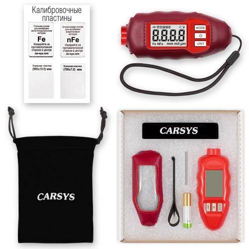 Толщиномер CARSYS DPM-816 PRO (красный, полный комплект)-1