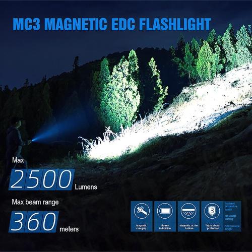 Фонарь TrustFire MC3 с магнитной зарядкой-10